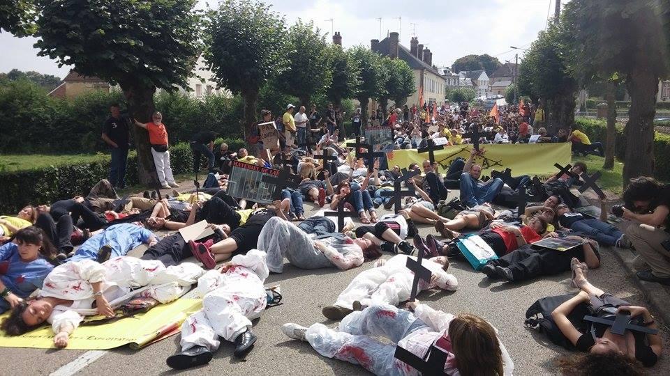3 Des militants de la cause animale manifestent à Mézilles pour demander la fermeture du CEDS