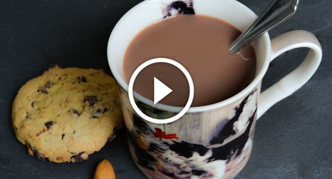 chocolat chaud au lait d amande vegemag. Black Bedroom Furniture Sets. Home Design Ideas
