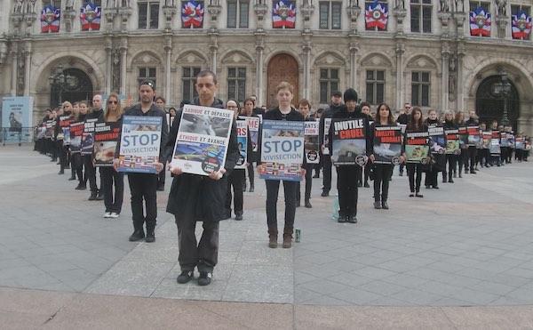 Manifestation contre l'expérimentation animale